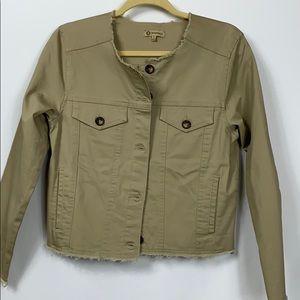 NWT Democracy khakis colored lite jacket size Sm